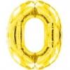 Цифра 0 золото 102 см