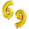 Цифра 6 или 9 золото 102 см