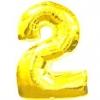 Цифра 2 золото 102 см