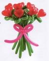 Букет из 9 цветков-сердец