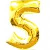 Цифра 5 золото 102 см
