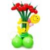 Букет 5 цветков и смайлик
