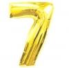Цифра 7 золото 102 см