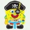 Спанч Боб Пират 55х40см