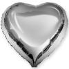 Сердце серебро фольгированное